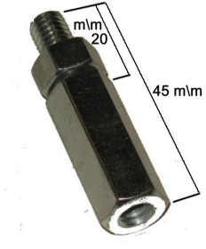 Extension for gearbox rod